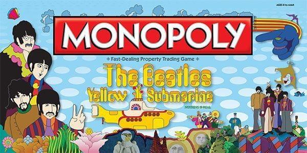 Audio Elite Monopoly The Beatles Yellow Submarine
