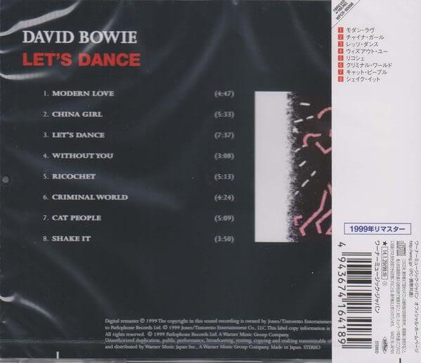 David Bowie – Let's Dance (Ed. japonesa) - CD