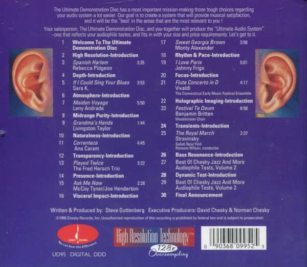 Chesky Records - The Ultimate Demonstration Disc Vol. 1 (The Chesky Guide To Critical Listening)- CD