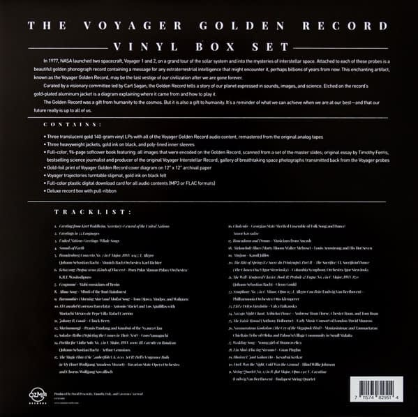 The Voyager Golden Record - Box Set Back - Audio Elite Colombia